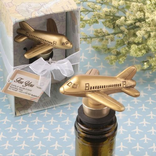 Aeroplane Metal Bottle Stopper Table Gift Favor